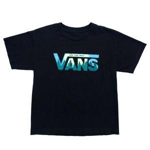 Vans Black Multicolor T-shirt Tee Size Small Top
